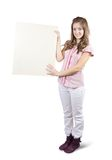 Teen holding a banner Royalty Free Stock Image