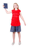 Teen holding book Stock Photography