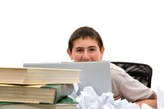 Teen Homework Royalty Free Stock Photos