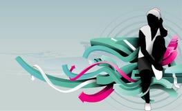 Teen illustration. Urban background teen illustration composition Stock Image