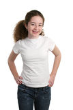 Teen In Blank T-Shirt Royalty Free Stock Images