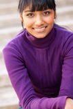 Teen indian girl. Pretty teen indian girl closeup portrait Royalty Free Stock Image