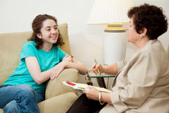Teen Interview Royalty Free Stock Photos