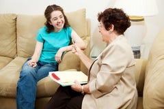 Teen Interview - Fun Conversation Royalty Free Stock Image