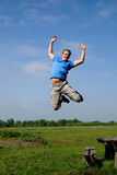 Teen jumping Stock Image