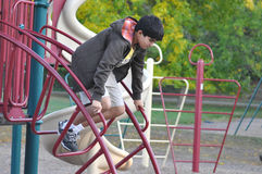 Teen jumping down Royalty Free Stock Photos