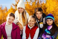 Teen kids group Royalty Free Stock Image