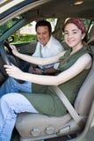teen klar väg för chaufför arkivbilder