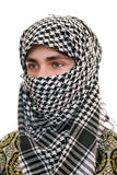 Teen in kufiya Royalty Free Stock Image