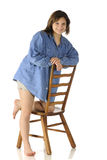 Teen on a Ladderback Chair Stock Images