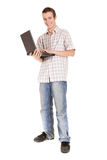 Teen with laptop Stock Photo