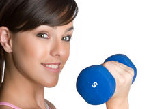 Teen Lifting Weights Royalty Free Stock Photography