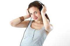Teen listening music Royalty Free Stock Photo