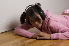 Teen listening to music Stock Photography