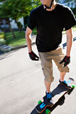Teen Longboarding Royalty Free Stock Images