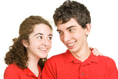 Teen Love Connection Stock Photography