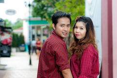 Teen lovers enjoy. In thailand Stock Images