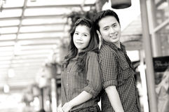 Teen lovers enjoy. In thailand Royalty Free Stock Images