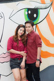 Teen lovers enjoy. In thailand Stock Photo