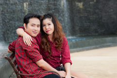Teen lovers enjoy. In thailand Royalty Free Stock Image
