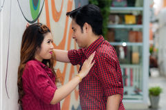Teen lovers enjoy in thailand Stock Photo