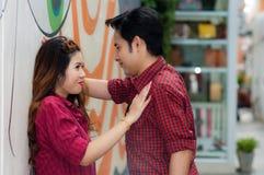 Teen lovers enjoy in thailand.  Stock Photo