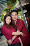 Teen lovers enjoy in thailand.  Stock Images