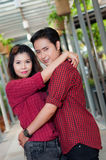 Teen lovers enjoy in thailand Royalty Free Stock Image