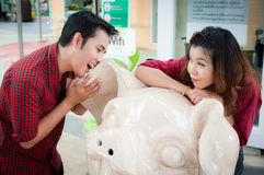 Teen lovers enjoy in thailand Royalty Free Stock Photography