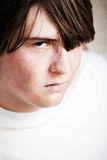 Teen male looking angry Stock Photos