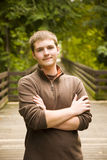 Teen Male Portrait. A portrait of a handsome teen boy Royalty Free Stock Photos