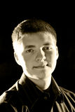 Teen Male Portrait. A portrait of a handsome teen boy Royalty Free Stock Photo
