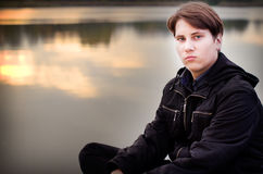 Teen male portret Royalty Free Stock Image