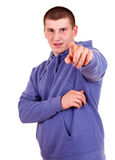 Teen man pointing on you Stock Photos