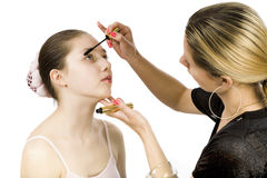 Teen and mascara Royalty Free Stock Photography