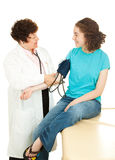 Teen Medical - Blood Pressure Royalty Free Stock Image