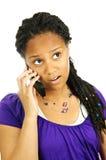 teen mobil telefon för flicka Fotografering för Bildbyråer
