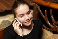 Teen with mobile phone Royalty Free Stock Image