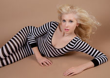 Teen Model in Bodysuit Stock Photos