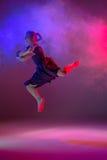 The teen modern ballet dancer stock photo