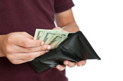Teen with money Royalty Free Stock Photo