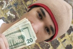 Teen Money royalty free stock photos