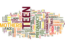 Teen Mothers Text Background Word Cloud Concept royalty free illustration