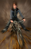 Teen on mountain bike Stock Photos