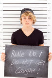 Teen mug shot Stock Images
