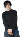 Teen music #3. Isolated teen listening to music Royalty Free Stock Photo