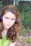 Teen music girl Royalty Free Stock Photo