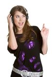 Teen Music Girl Stock Images