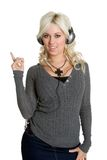 Teen Music Girl Royalty Free Stock Images