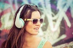Teen Music Girl Stock Image